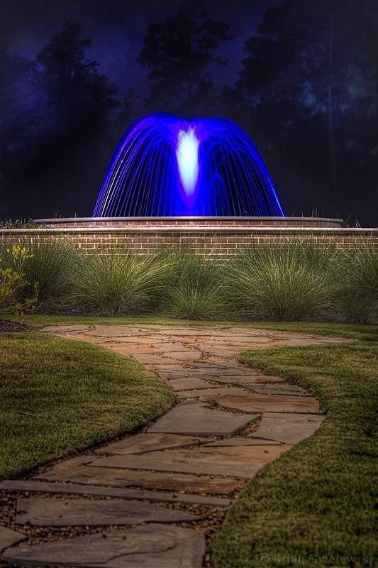 Blue Fountain in The Woodlands