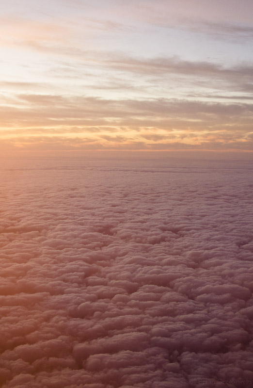 Sunset Over Clouds